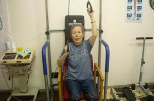 上肢の可動域訓練